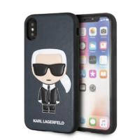 Coque Karl Lagerfeld cuir bleu iPhone X XS