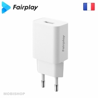 Secteur FAIRPLAY Positano Chargeur 1 USB Blanc