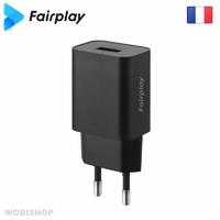 Secteur FAIRPLAY Positano Chargeur 1 USB Noir