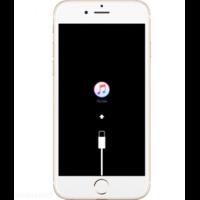 iPhone SE 2 bloqué logo iTunes