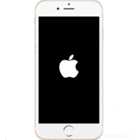 iPhone 6 bloqué logo Apple