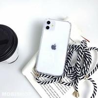 Coque Antichoc Cordon Noir Blanc iPhone XR