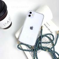 Coque Antichoc Cordon Vert iPhone XR