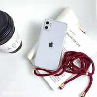 Coque Antichoc Cordon Bordeaux iPhone X XS