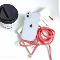 Coque Antichoc Cordon Corail iPhone X XS