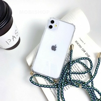 Coque Antichoc Cordon Vert iPhone 7+ 8+