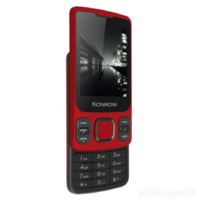 Konrow Slider Ecran 2.4'' Double Sim Rouge