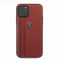 Coque Ferrari iPhone 12 / 12 Pro rouge