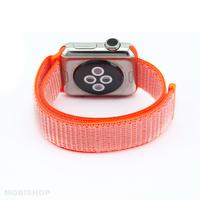 Bracelet en tissus orange pour Apple Watch 38/40mm