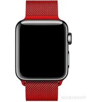 Bracelet en metal rouge pour Apple Watch 38/40mm