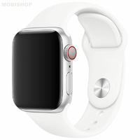 Bracelet en silicone blanc pour Apple Watch 38/40mm