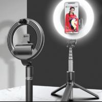 Selfie stick trépied LED 360 bluetooth noir