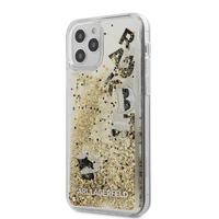Coque Karl iPhone 12 / 12 Pro paillettes flottantes dorées