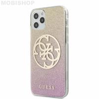 Coque Guess iPhone 12 Pro Max dégradée rose jaune