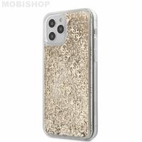 Coque Guess iPhone 12 Pro Max paillettes dorées