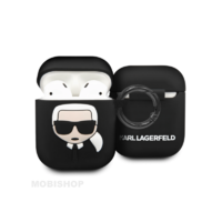 Coque AirPods 1 / 2 Karl Lagerfeld noir