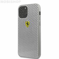 Coque Ferrari iPhone 12 Pro Max carbone grise