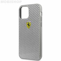 Coque Ferrari iPhone 12 Mini carbone grise