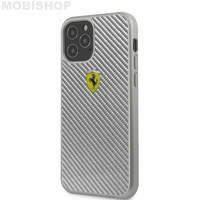 Coque Ferrari iPhone 12 / 12 Pro carbone grise