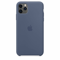 Coque Apple en silicone pour iPhone 11 Pro Max - Bleu d'Alaska