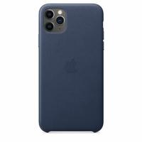Coque Apple en cuir pour iPhone 11 Pro Max - Bleu nuit