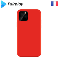 Coque silicone iPhone 12 / 12 Pro Rouge