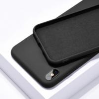 Coque silicone iPhone 7 8 SE 2020 noir