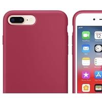 Coque silicone iPhone 6 6S rose foncé