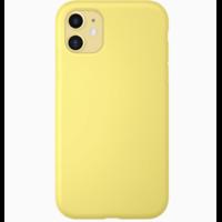 Coque silicone iPhone 7 8 SE 2020 jaune