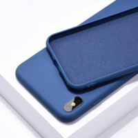 Coque silicone iPhone 7 8 SE 2020 bleu foncé