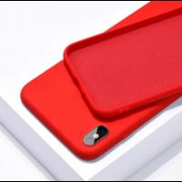 Coque silicone iPhone 7 8 SE 2020 rouge