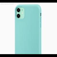Coque silicone iPhone 7 8 SE 2020 vert jade