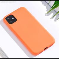 Coque silicone iPhone 7 8 SE 2020 orange