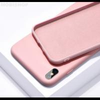 Coque silicone iPhone 7 8 SE 2020 rose
