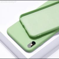 Coque silicone iPhone 7 8 SE 2020 vert