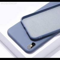 Coque silicone iPhone 7 8 SE 2020 bleu baltique
