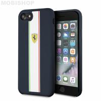 Coque Ferrari iPhone 7 8 SE 2020 bleu