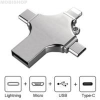 Clé usb 64 GB compatible pour lightning type-c micro usb