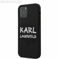 Coque Karl Lagerfeld silicone noir iPhone 12 / 12 Pro