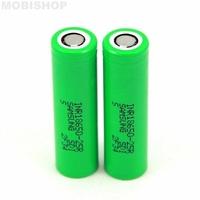 Batterie Samsung INR18650-25R - 2500mah (par 2) - Bouton / Plat : Plat pole -