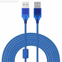 Câble Imprimante USB 2.0 A mâle/B mâle - 10m - Bleu