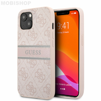 Coque Guess iPhone 13 monogramme rose