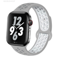 Bracelet en silicone gris pour Apple Watch 42/44mm