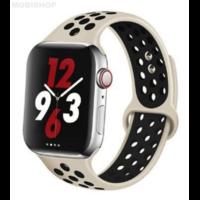 Bracelet en silicone gris et noir pour Apple Watch 42/44mm