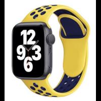 Bracelet en silicone jaune et bleu pour Apple Watch 38/40mm