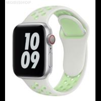 Bracelet en silicone blanc et vert pour Apple Watch 38/40mm