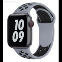 Bracelet en silicone gris et noir pour Apple Watch 38/40mm