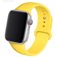 Bracelet en silicone jaune pour Apple Watch 38/40mm