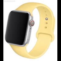 Bracelet en silicone jaune clair pour Apple Watch 38/40mm