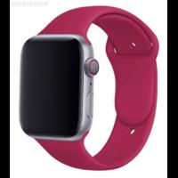 Bracelet en silicone framboise pour Apple Watch 38/40mm